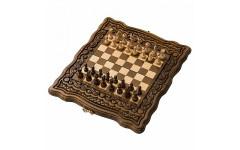 Шахматы + нарды резные Бриз 30 Haleyan