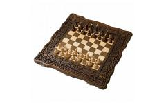 Шахматы + нарды резные Бриз 50 Haleyan
