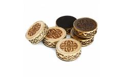 Набор резных фишек для нард с бронзой Haleyan
