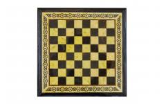 Шахматный ларец из янтаря с выдвижными ящиками (дуб) 50*50