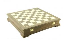 Шахматный ларец Стаунтон Орех, 45мм