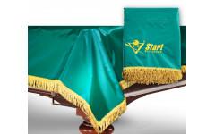 Чехол для б/стола 11-2 (зеленый с желтой бахромой, без логотипа)