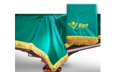 Чехол для б/стола 10-2 (зеленый с желтой бахромой, с логотипом)